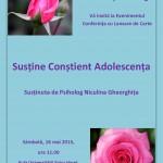 Conferință și Lansare Carte, București 16.05.2015 la ora 11